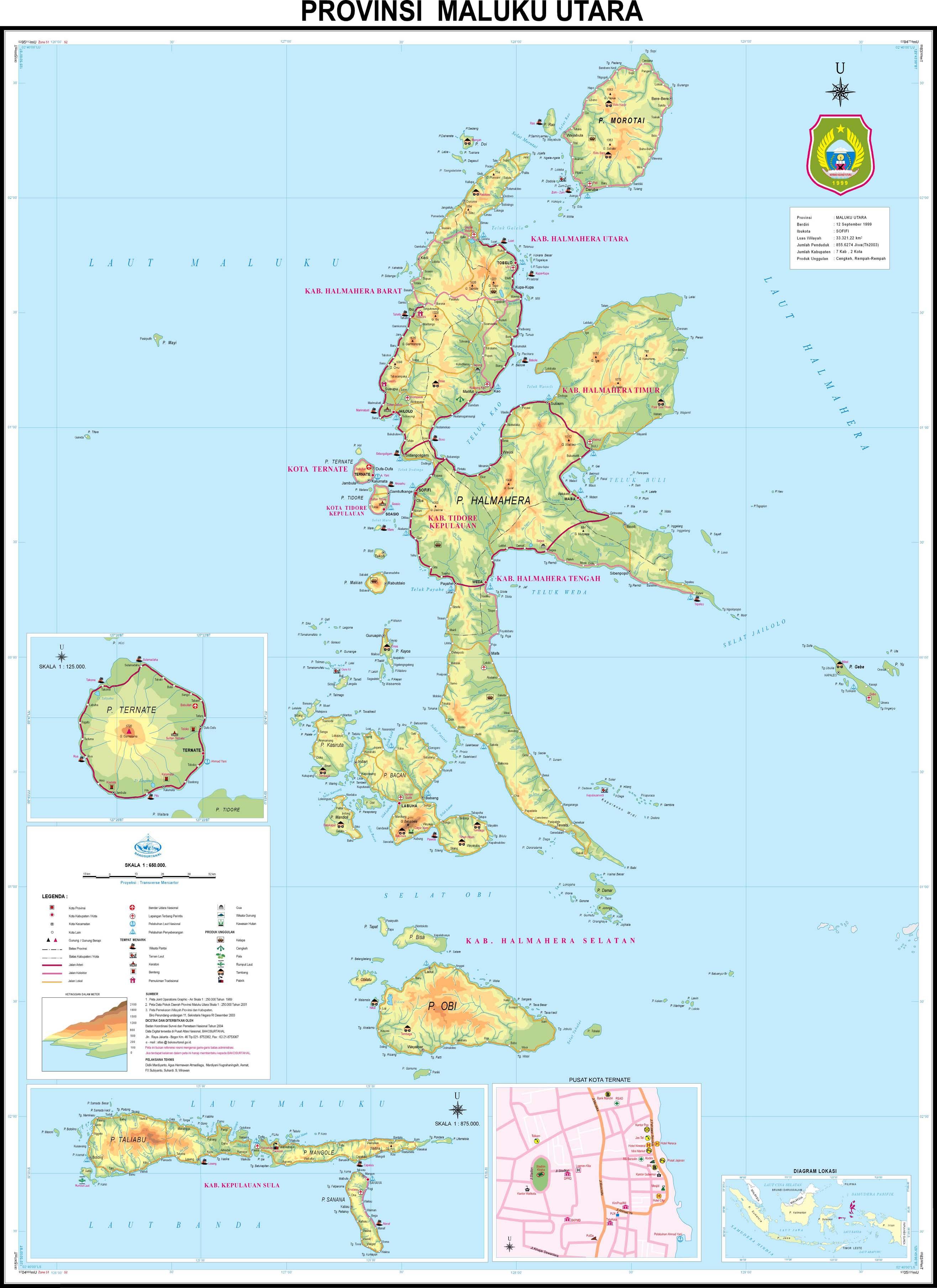 Simpan Gambar Peta Maluku Utara Foto