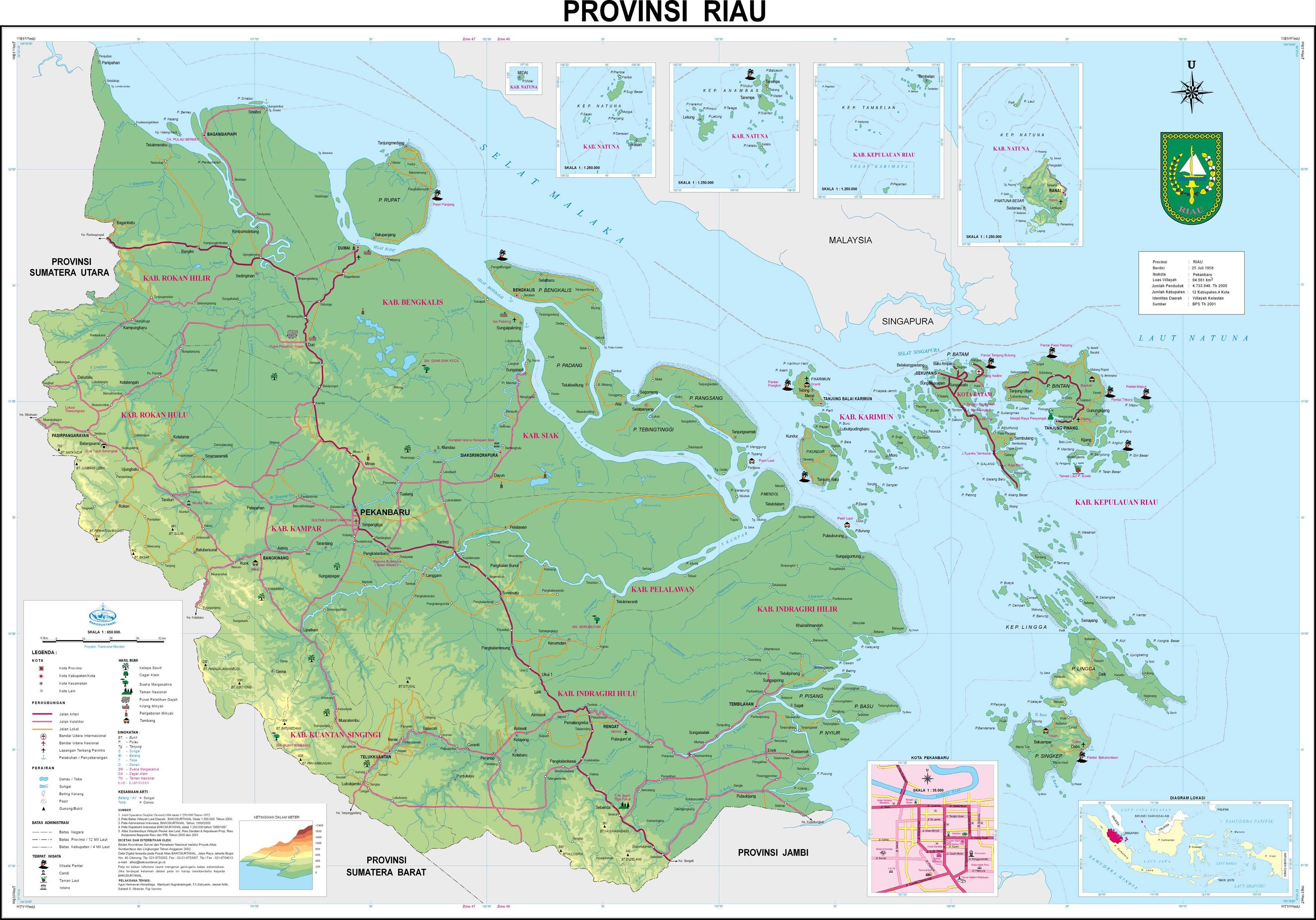 Peta 33 Provinsi Indonesia Terbaru