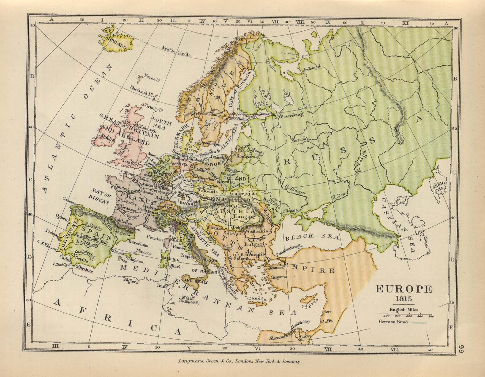 Europe Map 1815
