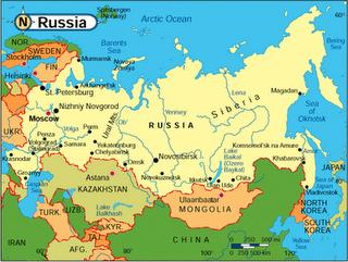 Peta wilayah negara rusia