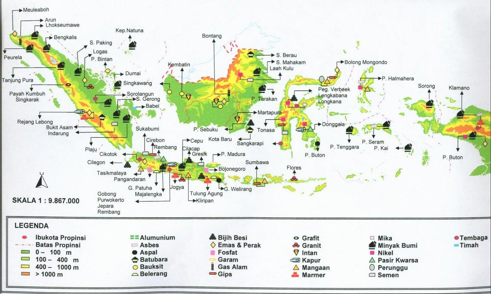 Peta kekayaan Sumber Daya Alam Indonesia (www.geoarround.com)