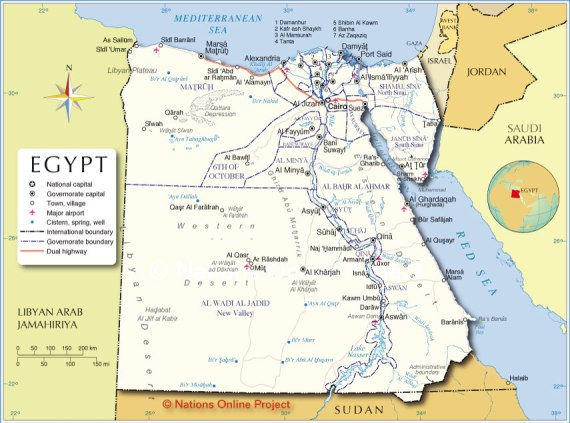 egypt-administrative-map