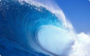 ombak-laut-biru